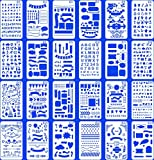 24 PCS Bullet Notebook Journal Stencil Plastic Planner Set for Journaling Suppies/Diary/Scrapbook DIY Drawing Template Stencils 4x7 Inches Kit Accessories