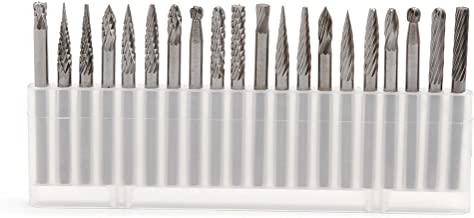 """bibididi Nieuwe 20Pieces 1/8"""" 3 mm hardmetalen frees Rotary Graveerset CNC-graveerbitset, haakse slijper-slijpschijven, 3X3mm"""