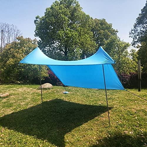 Toldo Sombrilla de Playa Resistente al Viento Refugio Pabellón Toldo Protección UV con Anclas de Bolsa de Arena Portátil para Picnic en la Playa Pesca Camping,Blue,210 * 170 * 150cm