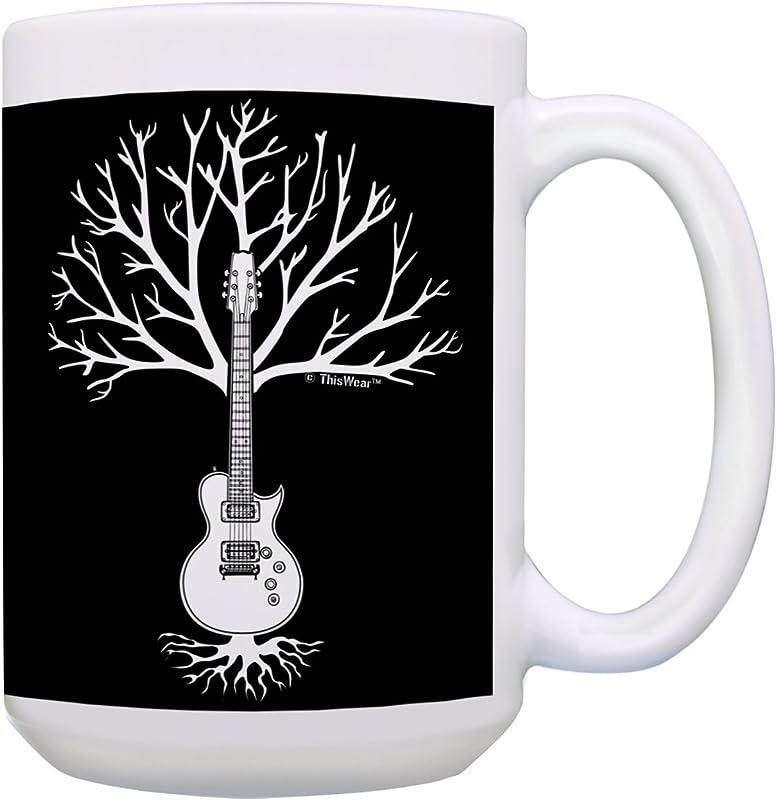 Guitar Mug Guitar Tree Of Life Guitar Themed Gifts For Men Music Gifts For Women Guitarist Gifts Music Coffee Mug Gift 15 Oz Coffee Mug Tea Cup 15 Oz White