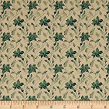 Andover 0575225 Sequoia Buds and Vines Touch of Blue Fabric by The Yard,