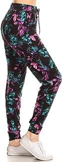 Leggings Depot Premium Jogger Women's Popular Print High Waist Track Pants(S-XL)