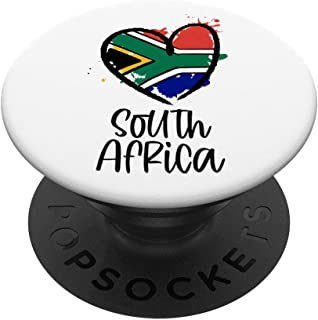 South Africa Heart Artwork Cool Africa Minimal Africans Gift PopSockets PopGrip: Swappable Grip for Phones & Tablets