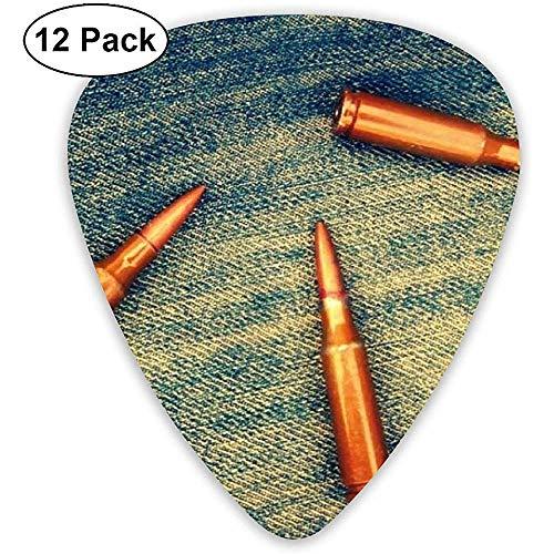 Kogels Jeans Gitaar Pick Set Gitaar Bas Mandolin Ukulele 0.46mm 0.71mm 0.96mm 12 Pack Gitaar Plectrums Met Picks Houder