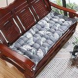Rectángulo de banco cojín almohadilla 2 3 plazas de sofá largo asiento almohadilla de asiento grueso jardín de jardín cojín lavable swing asiento suave colchón colchón espuma muebles reemplazo almohad