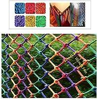 児童保護ネット、ロープ装飾、安全ネット、フェンス、クライミング織貨物トレーラーネット、グリッド、手すり用、階段、子供用バルコニー落下保護ネット(blue1x1m)