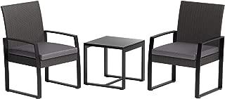 AmazonBasics 3-Piece PE Rattan Wicker Outdoor Patio Set