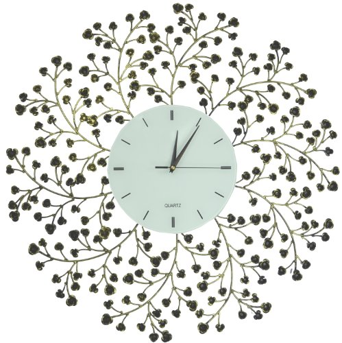 LuLu Decor Spring Bloom Extra Large Decorative Wall Clock