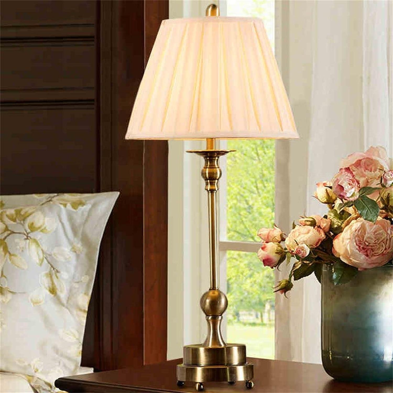 Shopping-Europäische retro voller voller voller Kupfer-Tischlampe Moderne dekorative Lampe Kreative Studie Schlafzimmer Nachttischlampen B0722RWWZH     | Feinbearbeitung  71460f