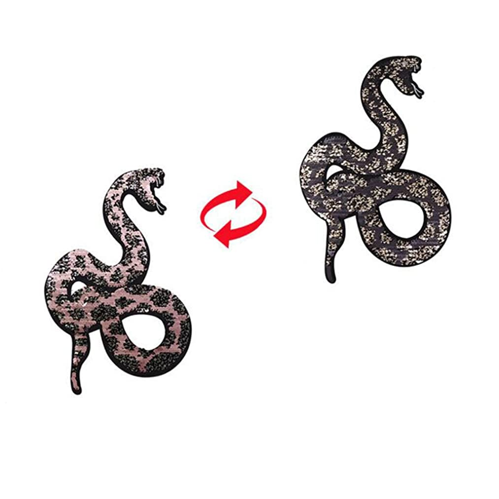 2018 NEW snake Reversible Change color Sequins Sew On Patches for clothes DIY Patch Applique Bag Clothing Coat Jeans Craft