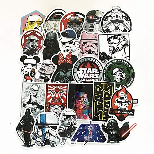 Star War Waterdichte Grappige Stickers Voor Bagage Laptop Bike Motorfiets Telefoon Auto Case Sticker 25 stks/partij
