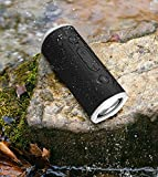 Rockville Portable Waterproof Bluetooth Speaker for Audiophiles, Black (ROCK LAUNCHER BK)