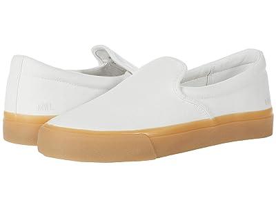 Madewell Sidewalk Slip-On Sneaker (Pale Parchment Canvas Gum Sole) Women