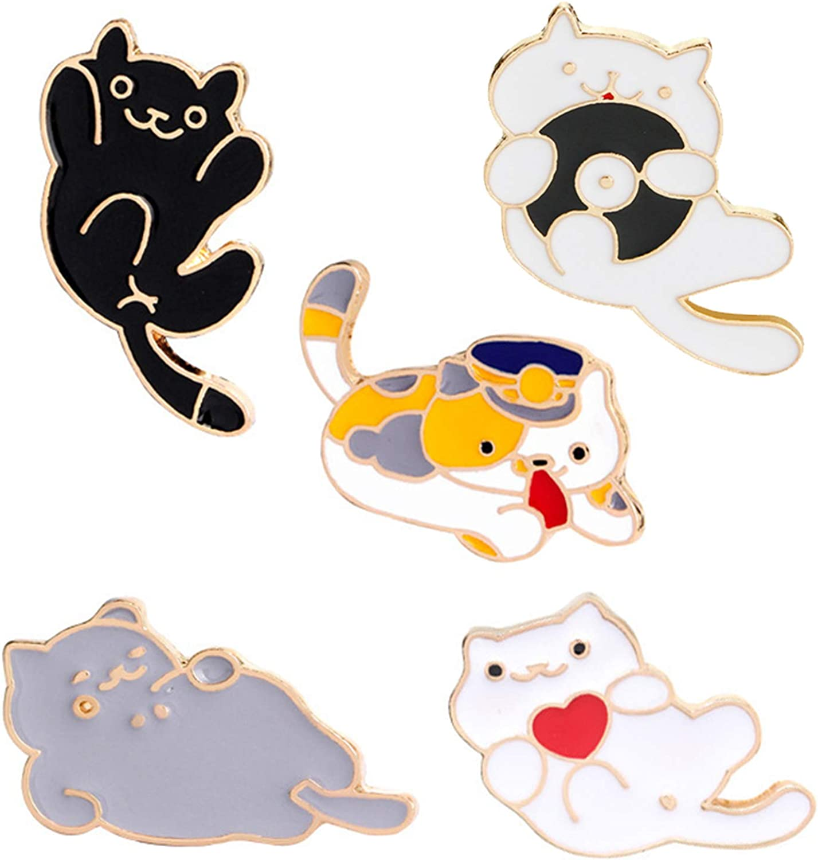Max 68% OFF specialty shop JLJ Cute Cat Dog Enamel Lapel Pin Cartoon Animal Set
