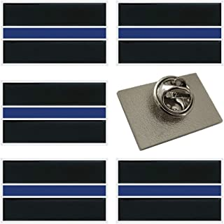 Thin Blue Line Lapel Pins - Honor The Men & Women Of Law Enforcement - 6 Pack