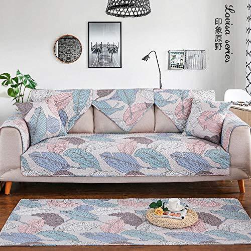 YTSM Sofa Überzug,Baumwolle Stoff Sofa Abdeckung universal rutschfeste Kissen für Wohnzimmer Sofa-Impression Field_90 * 240cm(1 STÜCKE)