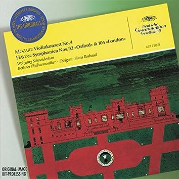 """Mozart, W.A.: Violin Concerto No.4 / Haydn, J.: Symphonies Nos. 92 """"Oxford"""" & 104 """"London"""""""