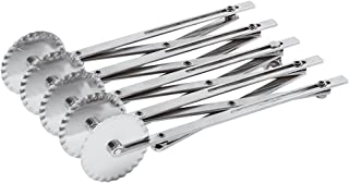 Paderno World Cuisine 9.5 by 2.125 Inch Stainless Steel Fluted Multi-wheel Dough Cutter