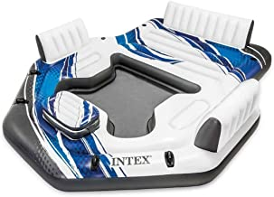 Intex Blue Tropical Island 5 Seat Floating Lounge Raft w/ 4 Cup Holders | 5727EP