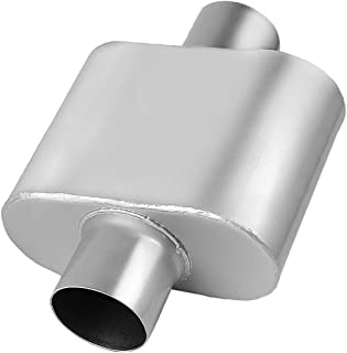 """AUTOSAVER88 3"""" Inlet/Outlet Muffler, Single Chamber Universal Stainless Steel, High Performance Exhaust Muffler For Cars"""