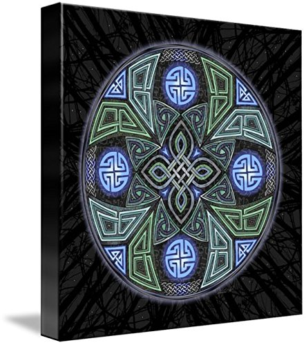 Imagekind Wall Art Print Entitled Celtic UFO Mandala by Kristen Fox