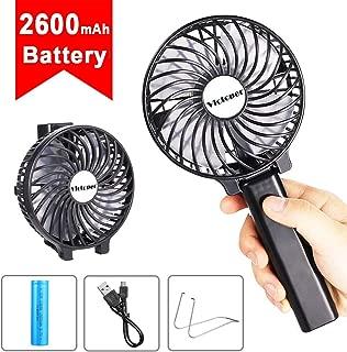 Maxesla Mini Handheld Fan Portable Electric Outdoor Fan with 3 Speed Operation, Rechargeable Desk Fan, Small Foldable USB Cooling Fan for Home Office Travel Black