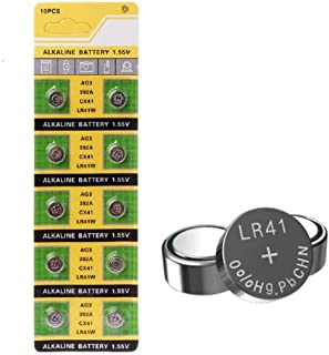 Cotchear New 10 of AG3/LR41 Alkailine Button Cell Watch Battery