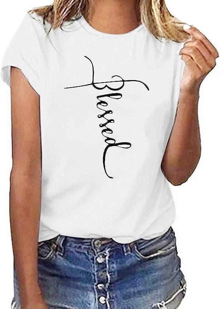 FACAIAFALO Women's Max 66% OFF O-Neck Summer Casual Printed Short ...
