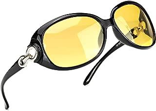 Myiaur Oversized Night Driving Glasses for Women, Polarized Lens Stylish,Safety Nighttime/Rainy/Cloudy