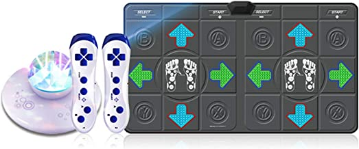 Dance Mat Pad Pads, Volwassenen Dubbele Dans Mat Running Deken Dance Yoga Game Machine (Color : Gray massage)