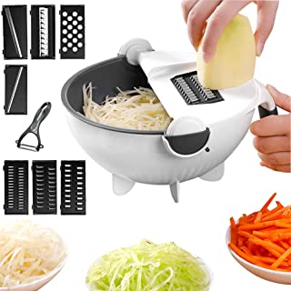 ZJZ Trancheuse à Légumes Professionnelle Multi-Usage, Sûr et Durable, Sans BPA, Convient pour Légumes