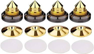 GCDN 4 Pièces Haut Parleur Pointes avec Socle Tampon et Deux-Faces Adhésif Bande,Enceinte HiFi Amplificateur Audio Isolati...