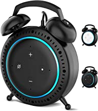 Retro Alarm Clock Stand Mount Holder Protective Case Compatible with 3rd Generation, A Space-Saving Solution and Decoration for Your Smart Home Speakers, Built-in Cable Management (Black)