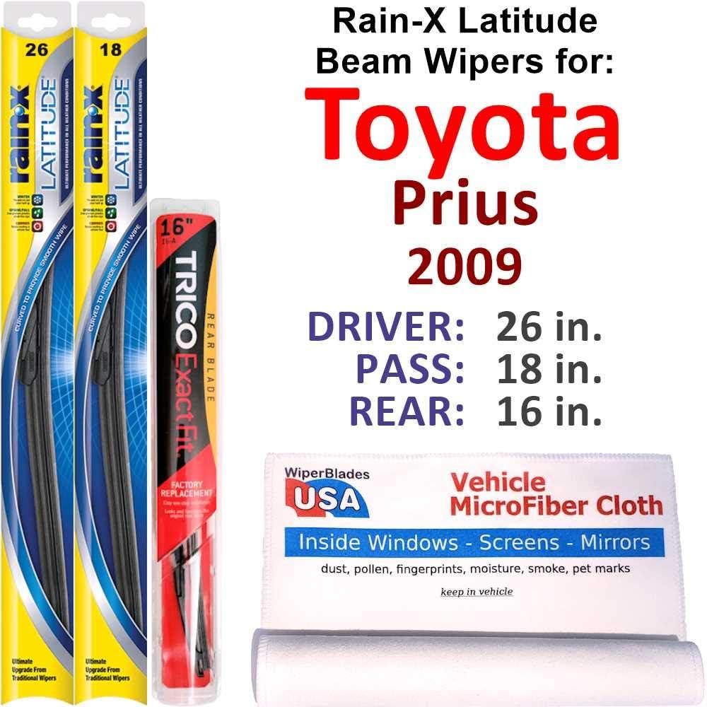 Rain-X Latitude Beam Wipers for 2009 Rai Rear w Set Prius Toyota Spasm price Sales