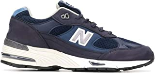Luxury Fashion | New Balance Men NBM991NVT Blue Synthetic Fibers Sneakers | Spring-summer 20