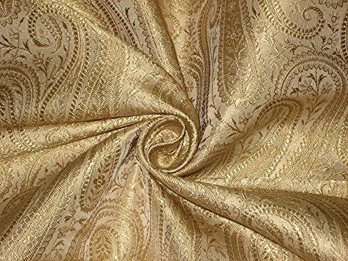 Tela brocada, color dorado, decoración del hogar, costura, moda, vestido de muñeca, mobiliario, interior.