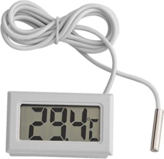 Riuty Termómetro Digital,5pcs Mini LCD Sensor de la sonda del Metro de la Humedad de la Temperatura del higrómetro de Digitaces