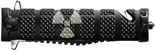 Tac-Force 4'' Spring Assisted Pocket Knife TF710BK NDZ Radiation Nuclear Symbol