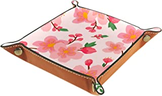 MUMIMI Plateau de salle de bain ou de cuisine - Rangement pour bijoux et bagues - Organisateur cosmétique - Motif fleur de...