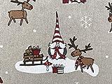 Witzige und lustige Elche, Linnenlook, Weihnachtsstoff,