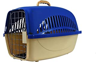 Pet Zone India Carrier-Travel CAGE/Suitable for Puppies and Kitten/Flight Carry CAGE (Color May Vary) (L-56, W-37, H-33CM(...