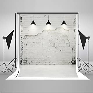 Kate 5x7ft Retro Grey Brick Wall Backdrop for Photography Drop Lights Background Photo Studio Prop