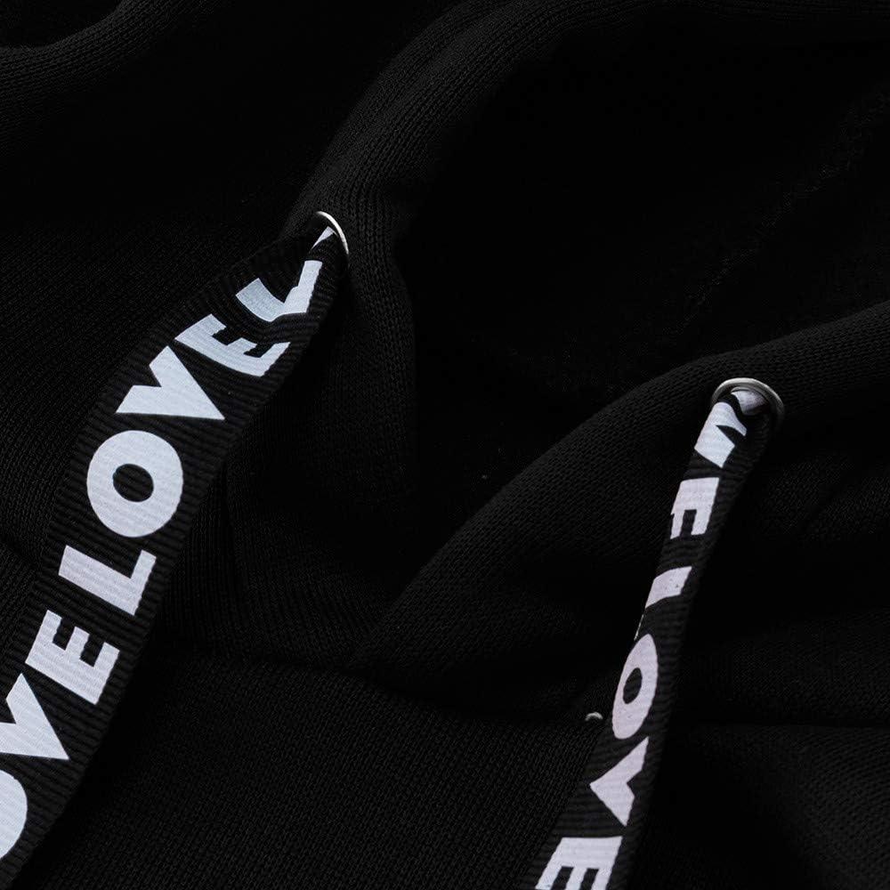 FRAUIT Kapuzenpullover Oversize Damen Langarm Hoodie Sweatshirt mit Kapuze Sport Pullover Weich Bequem Kapuzenjacke Sweatjacke Mantel Sport Lose Pullover S-5XL Schwarz