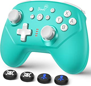 Switch コントローラー DinoFire スイッチ コントローラー 無線 Bluetooth 接続 任天堂switch liteに対応 ワイヤレス プロコン Turbo機能 ジャイロ搭載 HD振動 レベル調整可能 Nintendo swi...