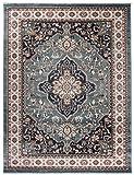 """Traditioneller Klassischer Teppich für Ihre Wohnzimmer - Dunkel Grün Creme Beige - Perser Orientalisches Heriz Keshan Muster - Blumen Ornamente - Top Qualität Pflegeleicht """" AYLA """" 200 x 300 cm Groß"""