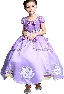 Little Girls Princess Sofia Costume Dress up Cosplay Fancy Party Dress