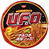 Nissin UFO, Instant Japanese Sosu Yakisoba(Pan-fried Noodles), 4.5oz(129g) x 6pcs (For 6 servings)[Japan Import]