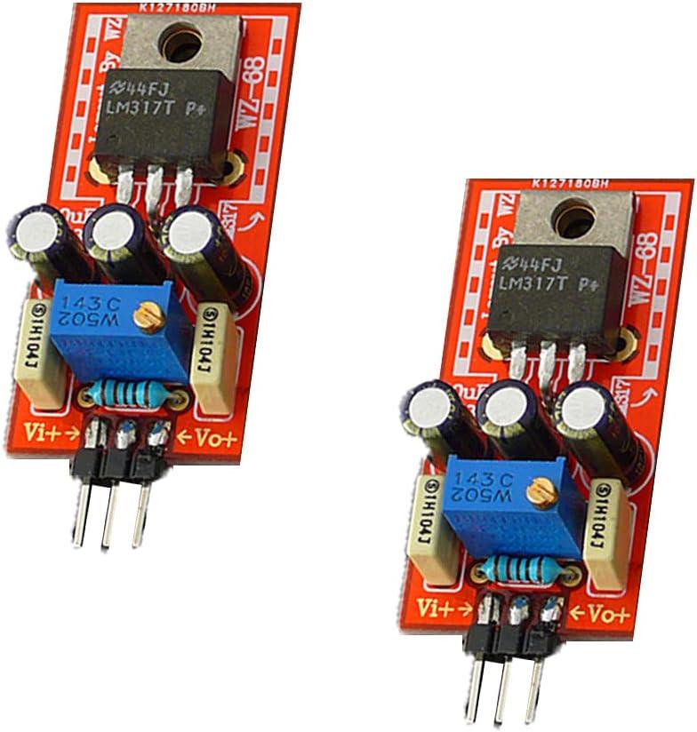SaiDian 2Pcs LM317/LM337 1.3V-42V Positive Adjustable Voltage Power Regulator Board
