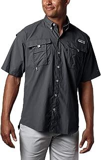 Men's PFG Bahama II Short Sleeve Shirt, Black, X-Large