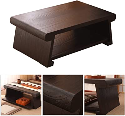Coffee Tables Japanese Bay Window Coffee Table Small Tatami Table Balcony Bay Window Table Solid Wood Low Table Tables (Color : Brown, Size : 60 * 40 * 30cm)